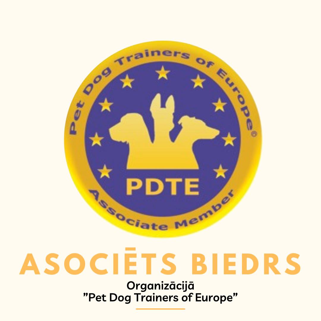 Pet Dog trainers of Europe organizācijas biedrs